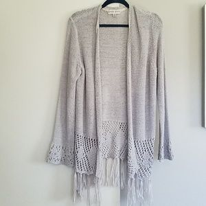 Grey Fringe Cardigan